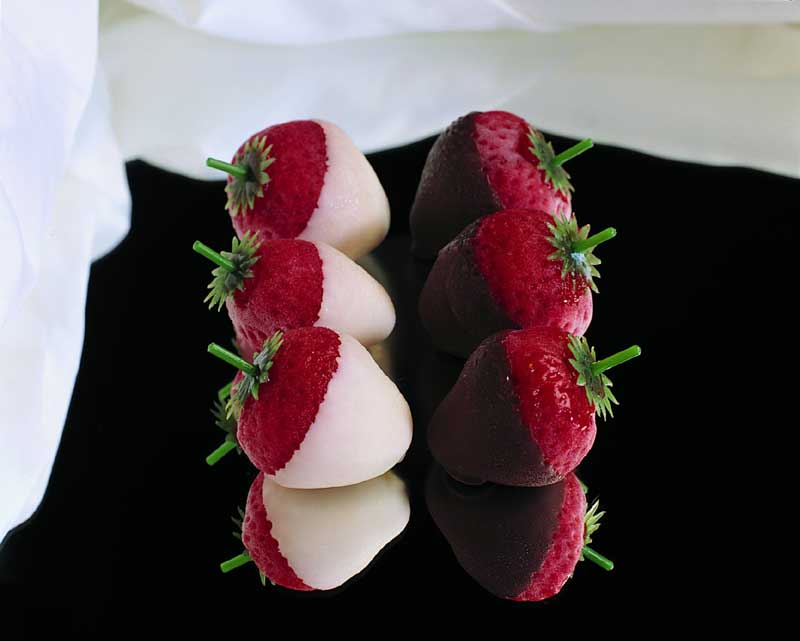 Simply Sorbet Chocolate Dipped Strawberries