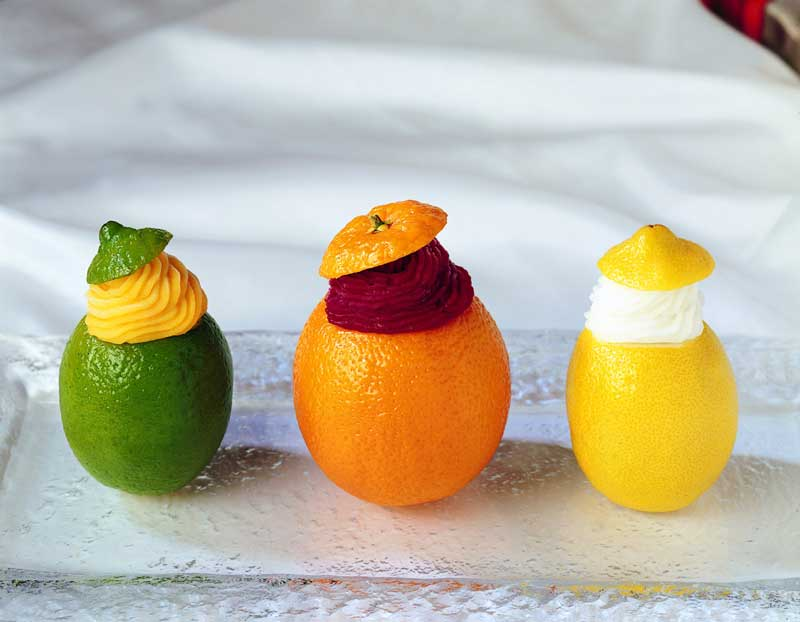Simply Sorbet Filled Fresh Fruits