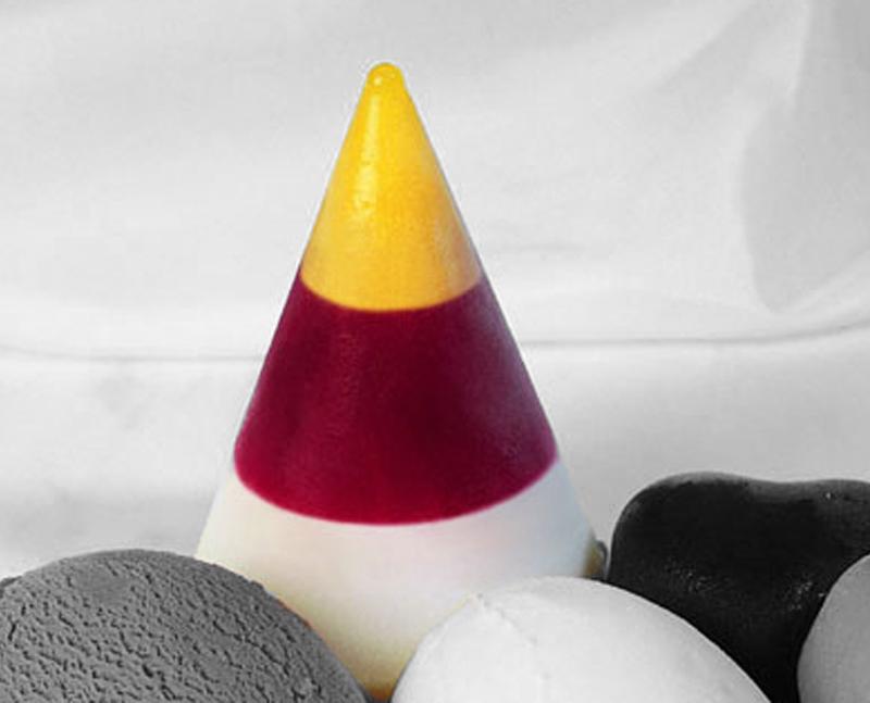 Tricolor Sorbet Cone